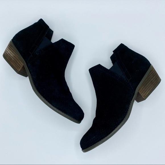 Crown Vintage Black Suede Bonny Chelsea Boot 8.5